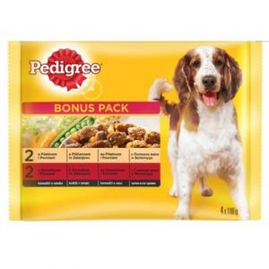 PEDIGREE POUCH MULTIPACK 4*100GR