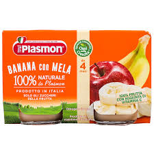 PLASMON PURE BANANE- MOLLE 4 MUAJ 2X104GR
