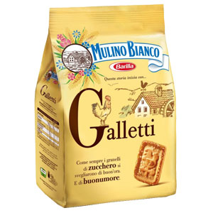 MULINO BIANCO BISKOTA  GALLETI ME QUMESHT 350GR (12)(SM29485)