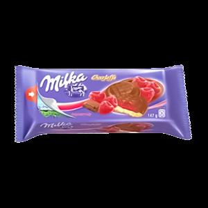 MILKA COKOLLATE  CHOCO DESSERT RASPBERRY 135GR