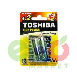 TOSHIBA BATERI ALKALINE LR06 4+2FALAS