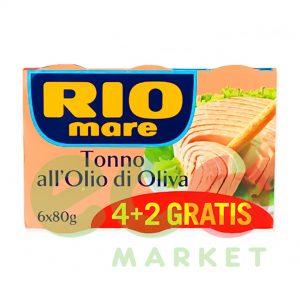 RIO MARE TON ME VAJ 6X80GR