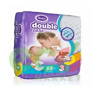 VIOLETA PELENA DOUBLE CARE AIR DRY 52(3 MIDI 4-9KG NR 3