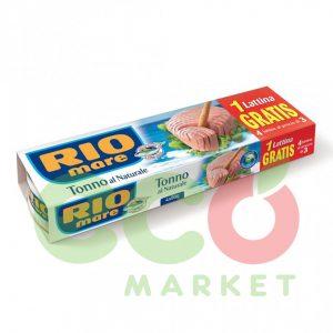 RIO MARE TON NATYRAL 4X80GR